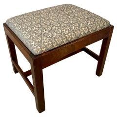 Antique Victorian Mahogany Footstool
