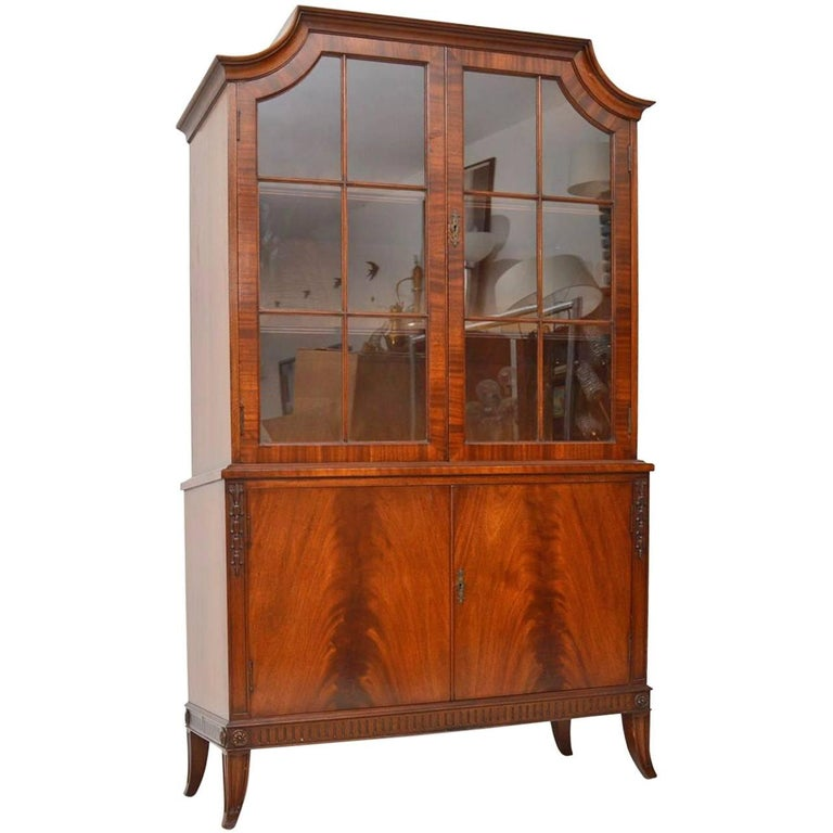 Antique Mahogany Glazed Bookcase For Sale At 1stdibs