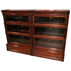 Antique Mahogany Globe Wernicke Bookcase