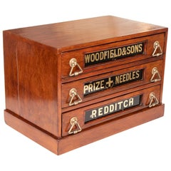 Antique Mahogany Haberdashery Shop Drawers, Redditch, circa 1900