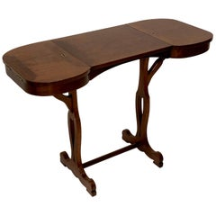 Antique Mahogany Ladies Writing Desk Table France