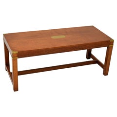 Antique Mahogany Military Campaign Style Coffee Table