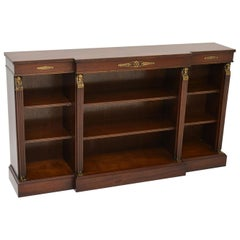 Antique Mahogany Neoclassical Style Bookcase