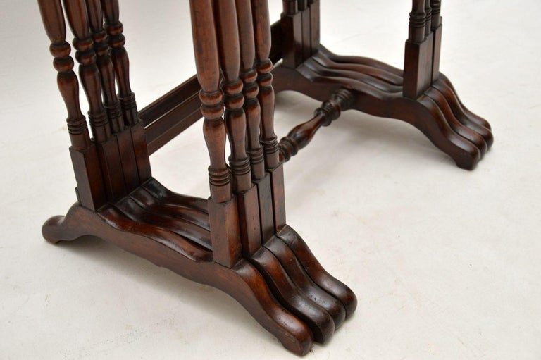 Antique Mahogany Nest of Four Tables For Sale 6