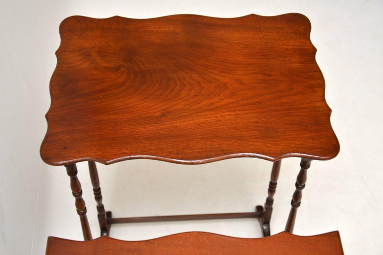 Antique Mahogany Nest of Four Tables For Sale 1