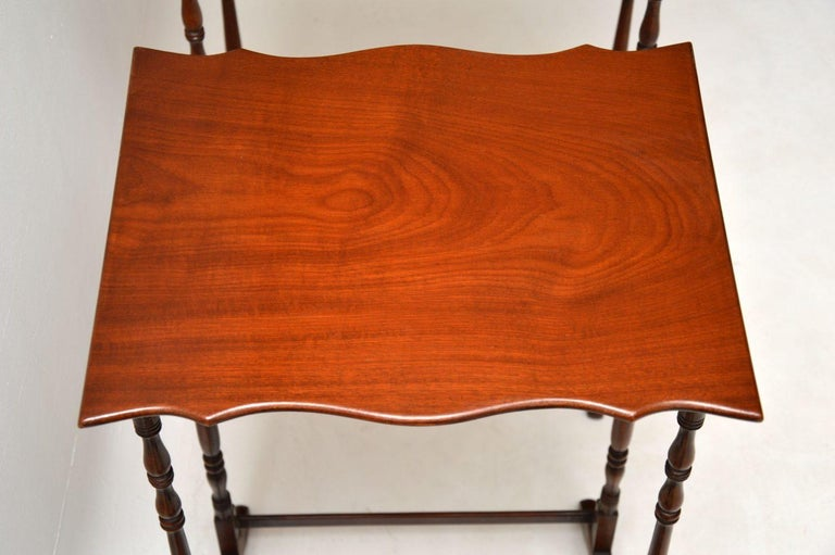 Antique Mahogany Nest of Four Tables For Sale 2
