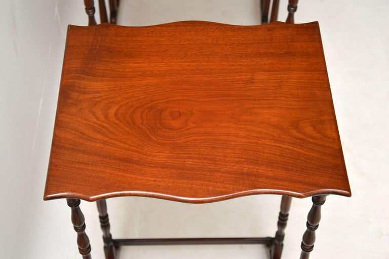 Antique Mahogany Nest of Four Tables For Sale 3