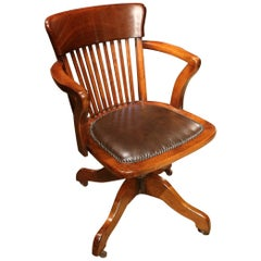 Antique Mahogany Office Chair