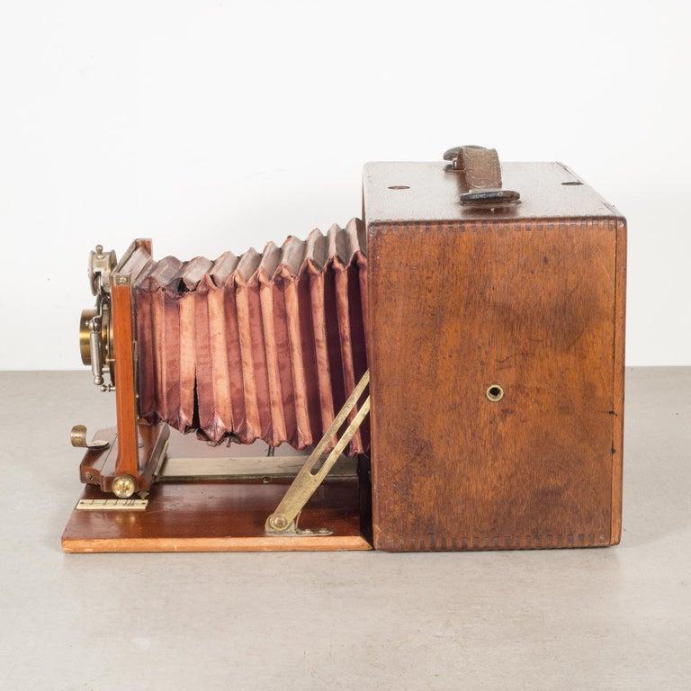 Victorian Antique Mahogany Premo Long Focus Folding Camera, circa 1895-1904 For Sale