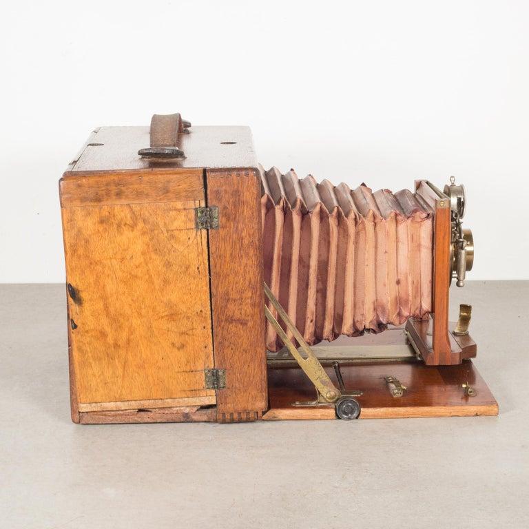 American Antique Mahogany Premo Long Focus Folding Camera, circa 1895-1904 For Sale