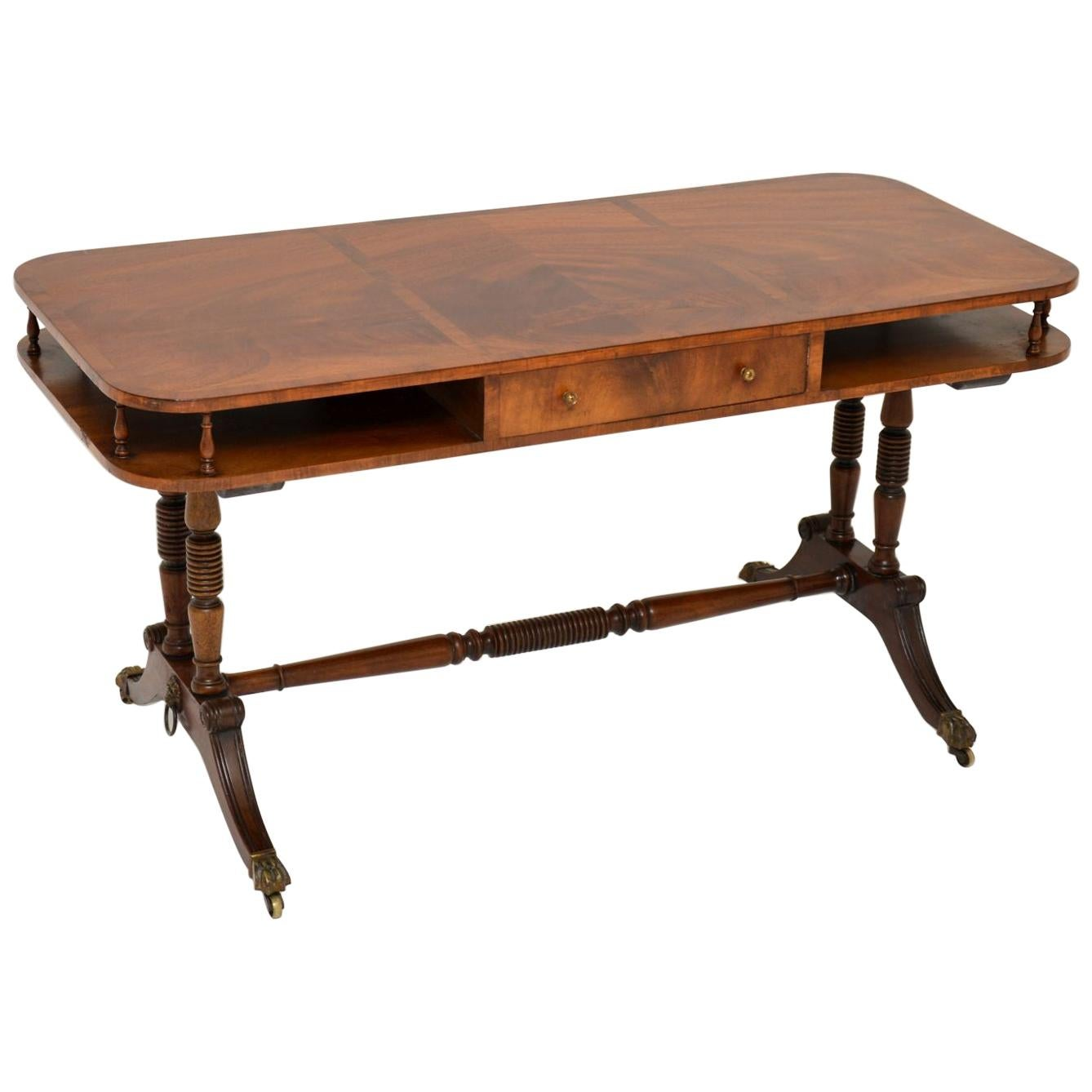 Antique Mahogany Regency Style Coffee Table
