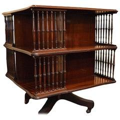 Antique Mahogany Revolving Book Stand
