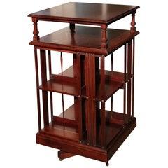 Antique Mahogany Revolving Bookcase