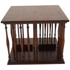 Antique Mahogany Revolving Bookcase, Tabletop Bookcase, Scotland 1910, B2202