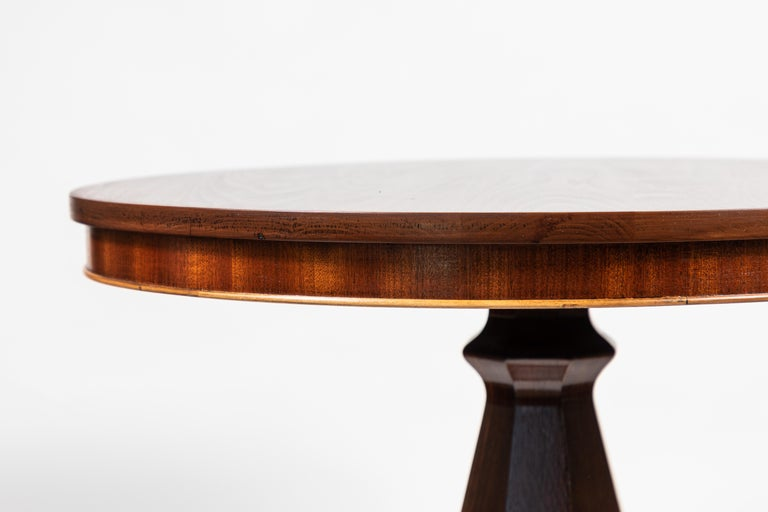 Antique Mahogany Round Pedestal Side Table For Sale 3