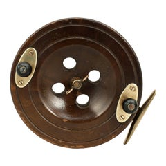 Antique Mahogany Sea Fishing Reel
