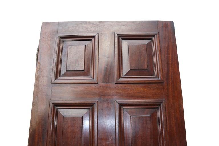 English Antique Mahogany Six Panel Door For Sale