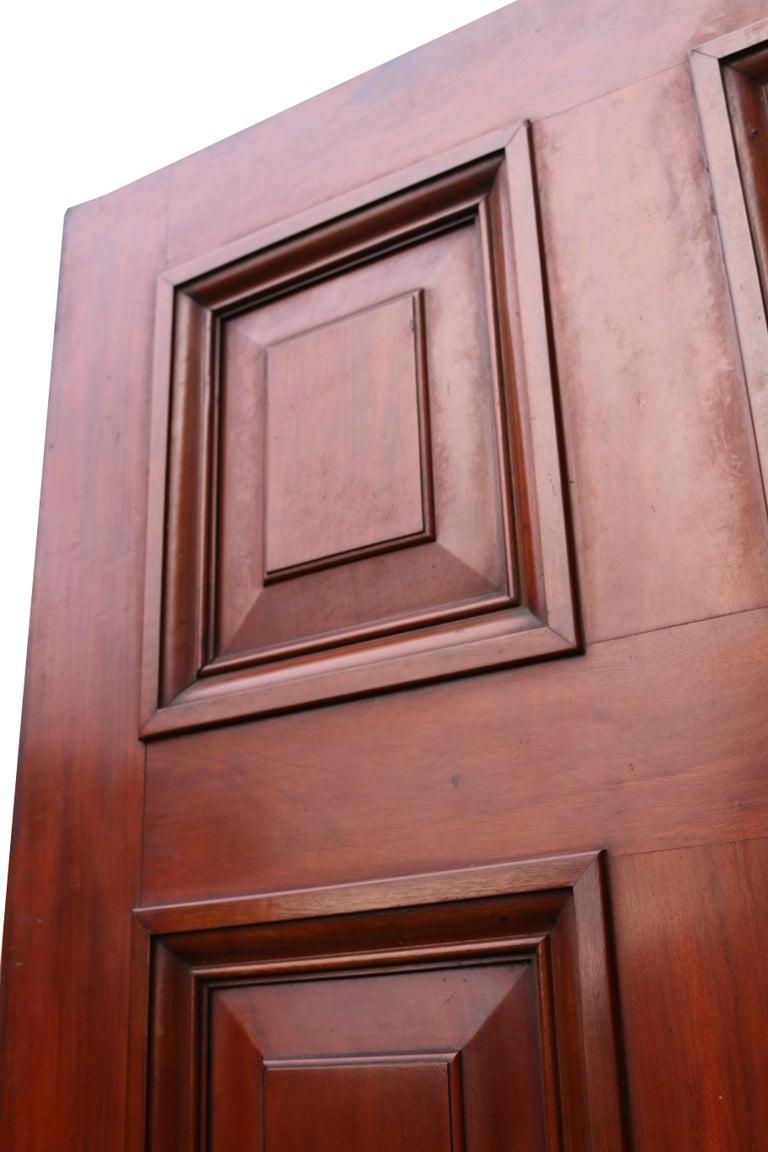 Antique Mahogany Six Panel Door For Sale 1
