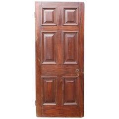Antique Mahogany Six Panel Door