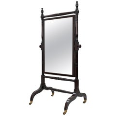 Antique Mahogany Standing Mirror