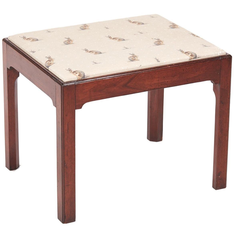 Antique Furniture Edwardian (1901-1910) Antique Mahogany Stool