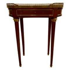 Antique Mahogany Table with Candle Stands, 100 Years Old