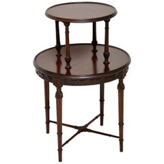 Antique Mahogany Two-Tier Table