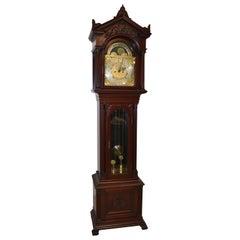 Antique Mahogany Webb C Ball Grandfather Clock Cleveland Ohio