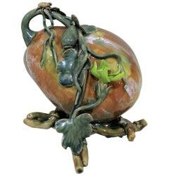 Antike Majolika-Skulptur