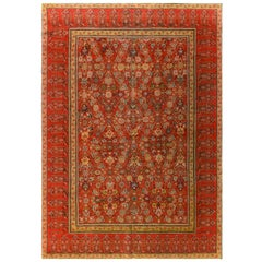 Antique Malayer Wool Area Rug