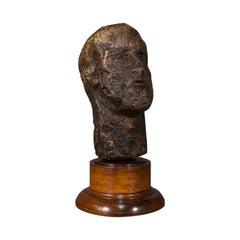 Antique Male Portrait Bust, Continental, Plaster, Sculpture, Victorian, C.1860