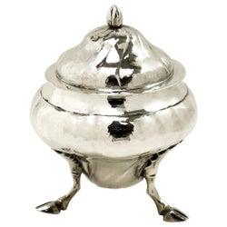 Maltese Solid Silver Sugar Bowl Lidded Dish circa 1760 18th Century Malta