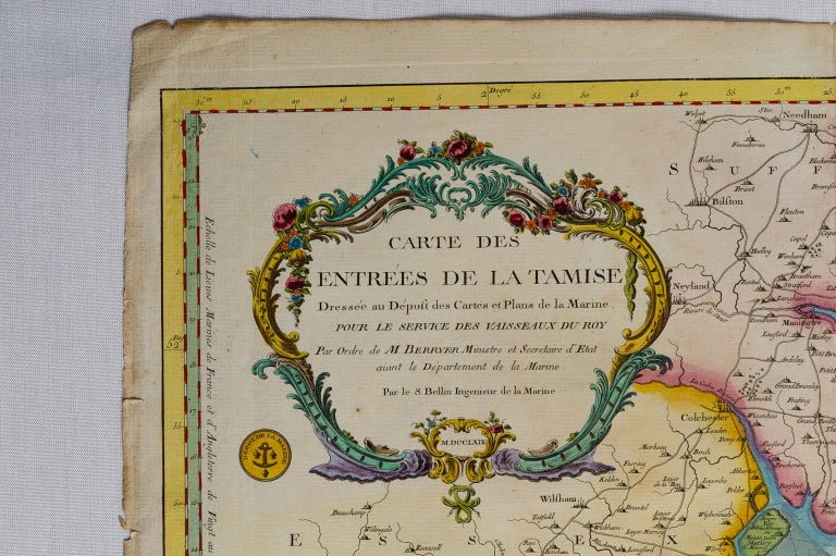 French Antique Map