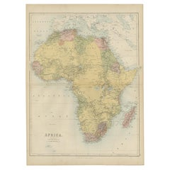 Antique Map of Africa by A & C, Black, 1870