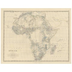 Antique Map of Africa by A.K. Johnston, 1865