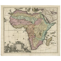 Antique Map of Africa by Allard '1697'