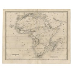 Antique Map of Africa by Balbi '1847'
