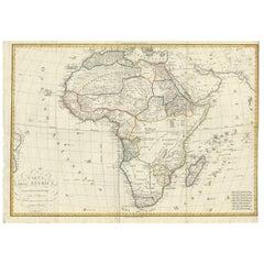 Antique Map of Africa by Bordiga Fratelli 'circa 1818?'