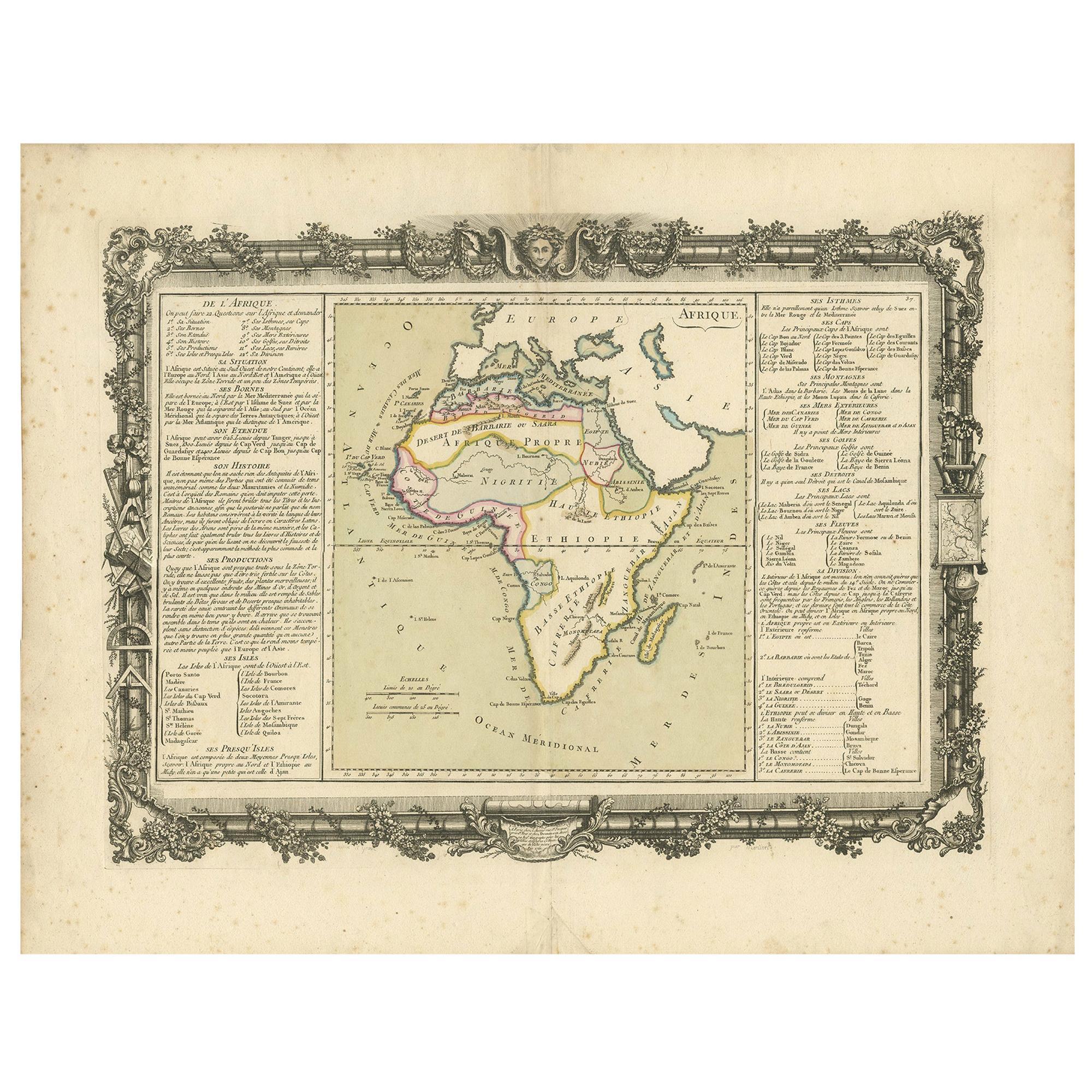 Antique Map of Africa by Claude Buy de Mornas '1761'