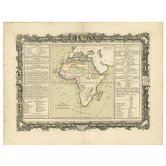 Antique Map of Africa by Claude Buy de Mornas '1761'