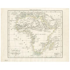 Antique Map of Africa by Dufour, circa 1834