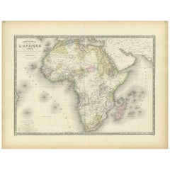 Antique Map of Africa by Levasseur '1875'