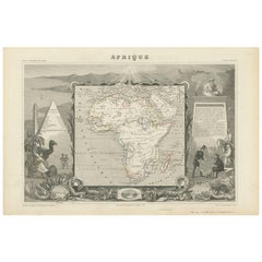 Antique Map of Africa by V. Levasseur, 1854