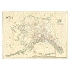 Antique Map of Alaska '1904'