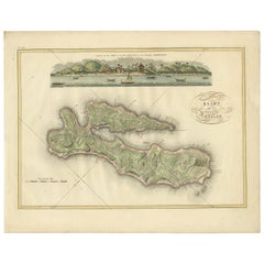 Antique Map of Ambon Island by Van den Bosch, '1818'