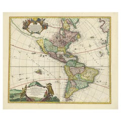 Antique Map of America with California as an Island by Homann '1710'