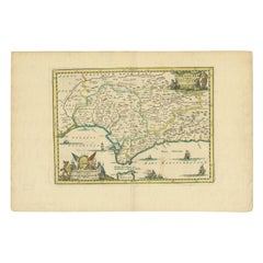 Antique Map of Andalusia, 'Spain', circa 1700