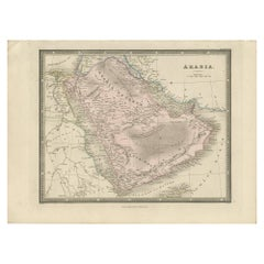 Antique Map of Arabia by Wyld, '1845'