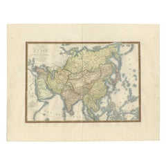 Antique Map of Asia by Brué '1820'
