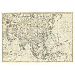Antique Map of Asia by Ferrario '1815'